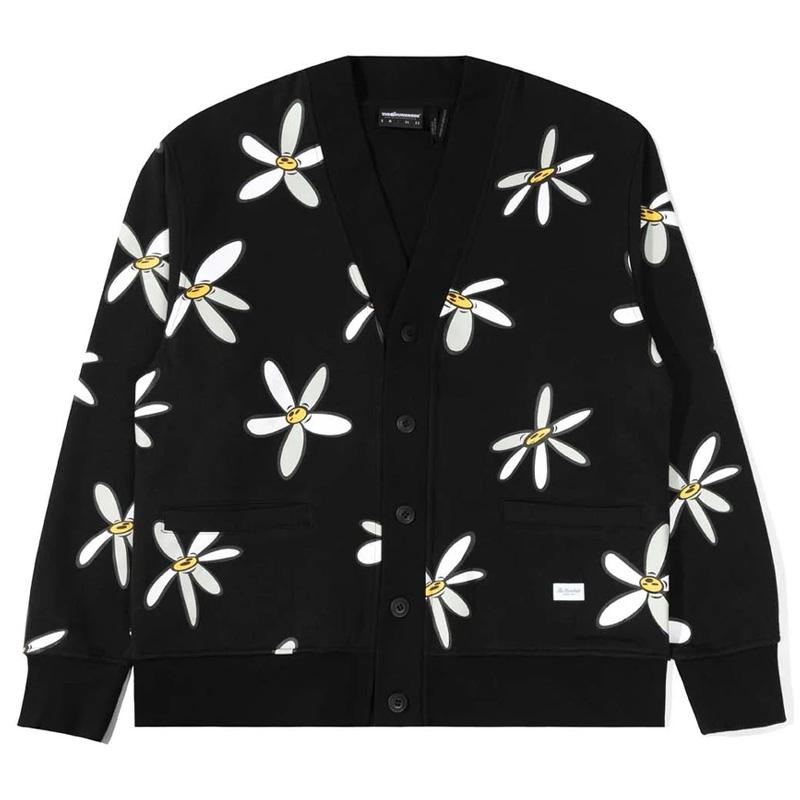 The Hundreds Bloom Cardigan Black