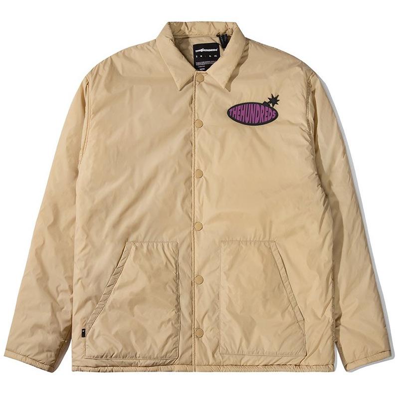 The Hundreds Marsh Coaches Jacket Khaki