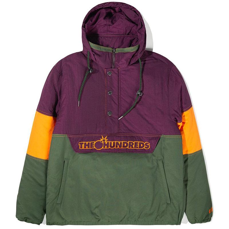 The Hundreds Reversion Puffer Anorak Jacket Purple