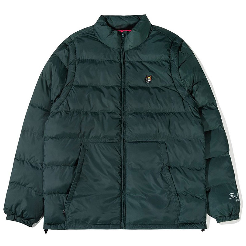 The Hundreds Vast Puffer Vest Jacket Hunter Green