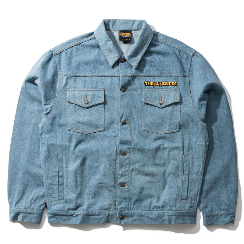 The Hundreds X Garfield Roses Denim Jacket Light Wash