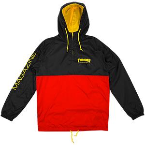Thrasher Mag Logo Anorak Jacket Black/Red