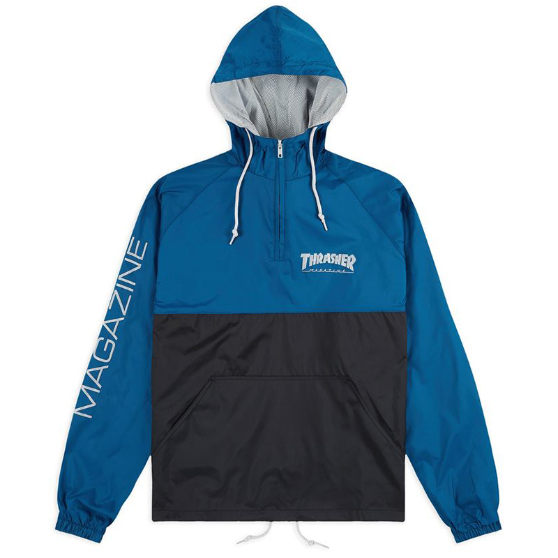 Thrasher Mag Logo Anorak Jacket Navy/Gray