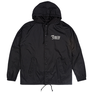 Tired Swoop Hooded Coach Jacket Black