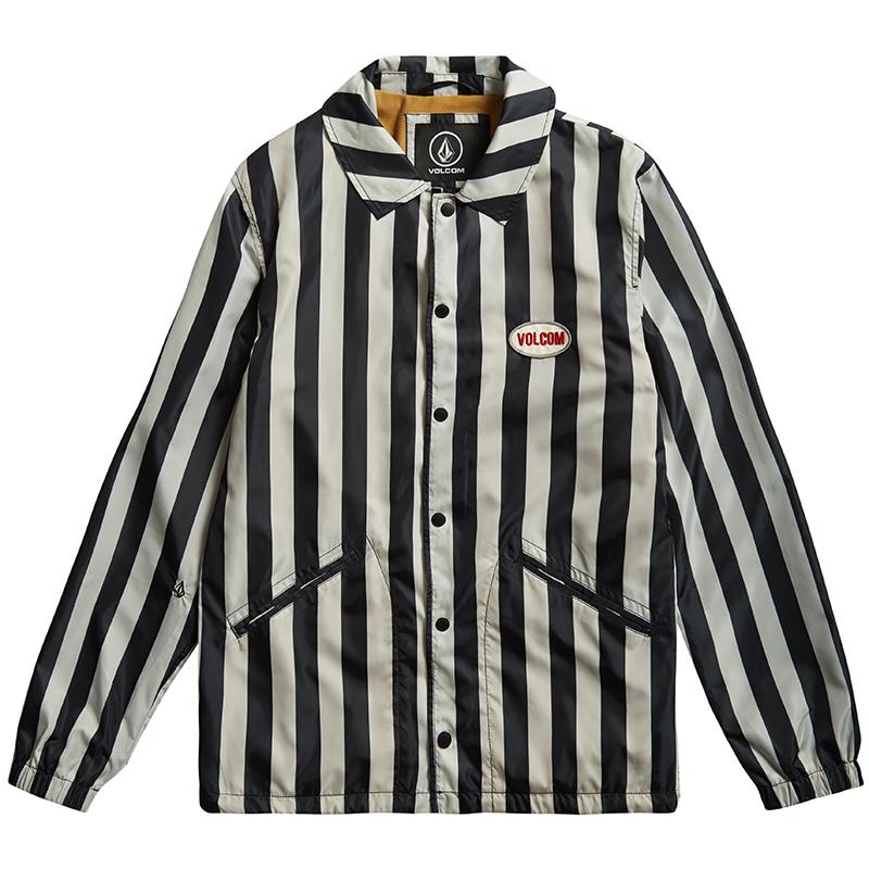 Volcom Brews Coach Jacket Black/White
