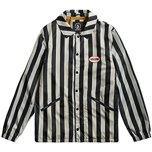 Volcom Brews Coach Jacket Black/White