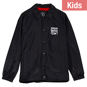 Volcom Kids Brews Coach Jacket Black