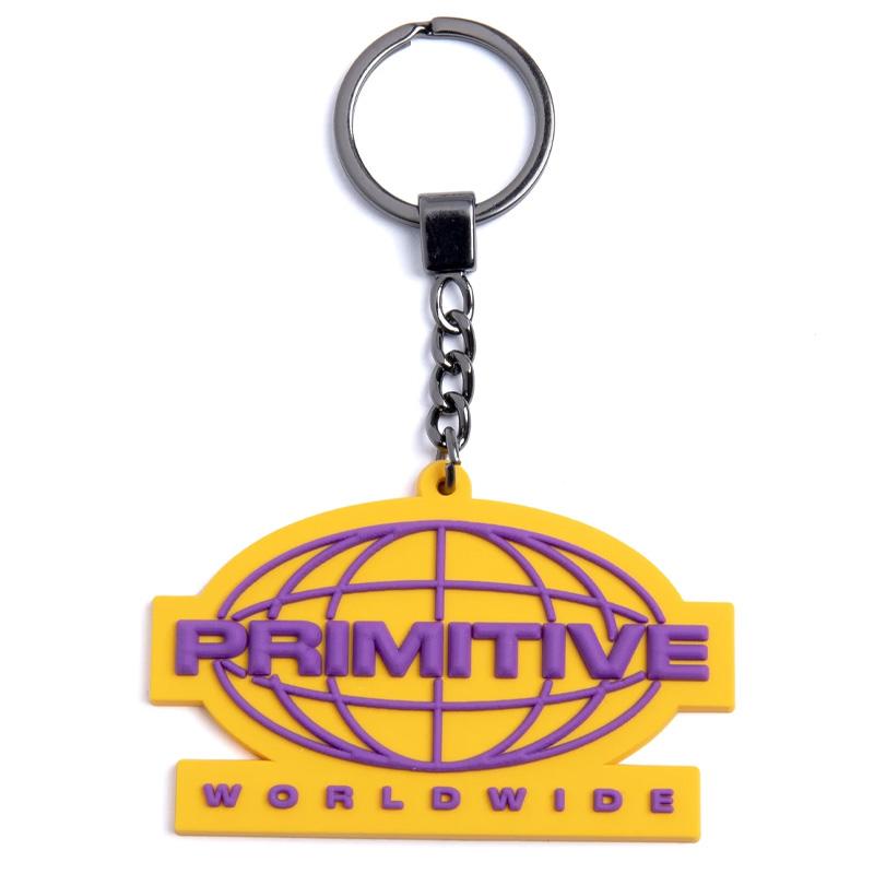 Primitive Worldwide Keychain Gold