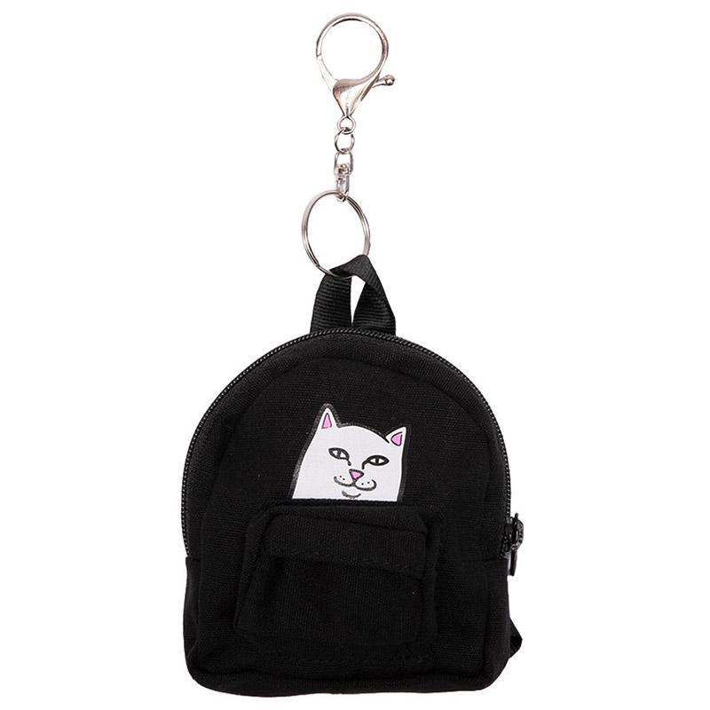 RIPNDIP Lord Nermal Mini Backpack Key Chain Black