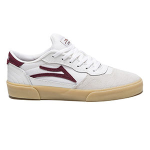 Lakai Cambridge White/Burgundy Leather