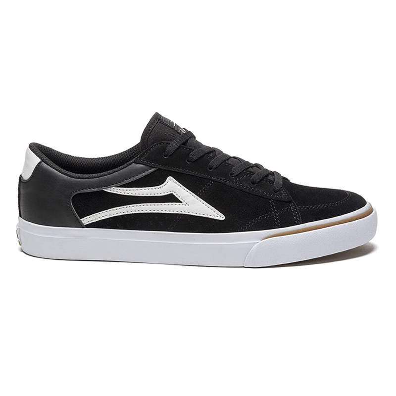 Lakai Ellis Shoes Black/White Suede