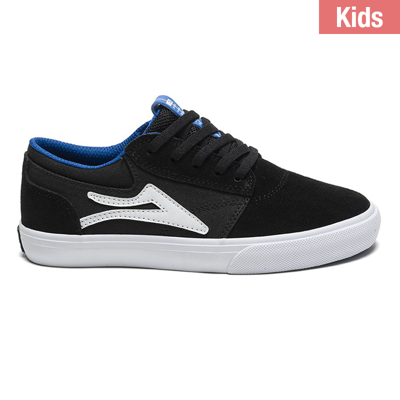 Lakai Griffin Kids Shoes Black Suede