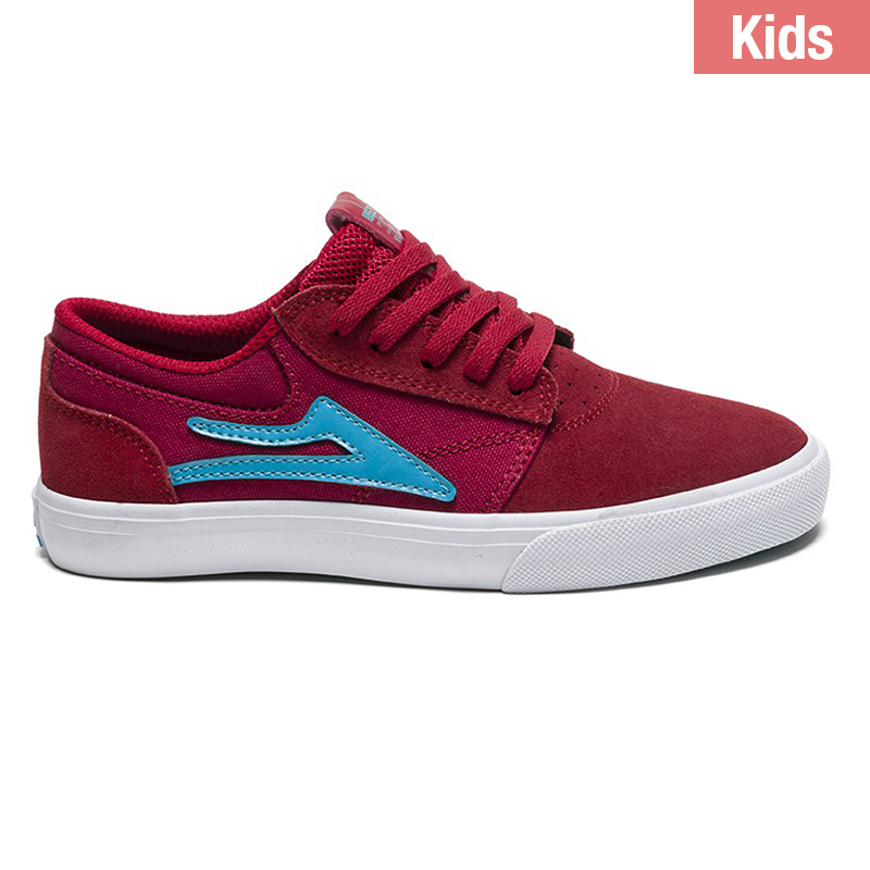 Lakai Griffin Kids Shoes Red Suede