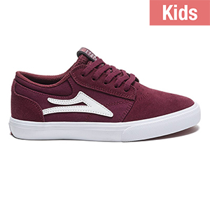 Lakai Kids Griffin Burgundy Suede