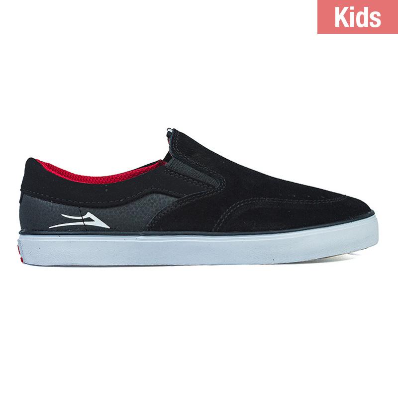 Lakai Kids Owen Black/Red Suede