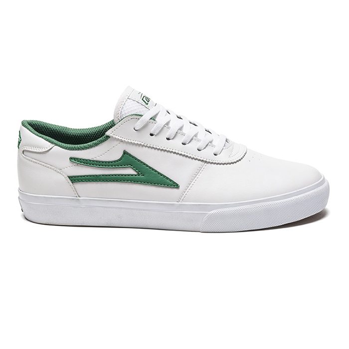 Lakai Manchester White/Green Leather