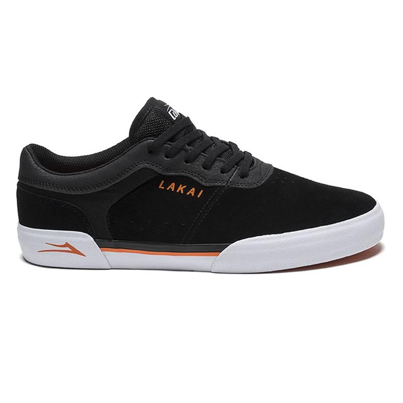 Lakai Staple Black/Orange Suede