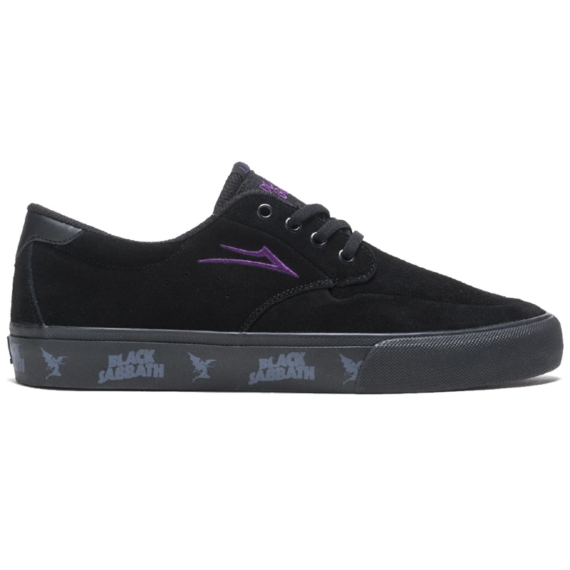 Lakai x Black Sabbath Riley 3 Black Suede