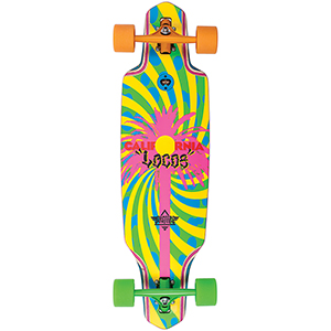 Dusters California Locos Complete Longboard Green/Yellow34.0