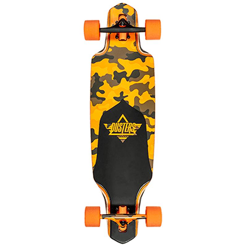 Dusters Channel Nectarine Complete Longboard Orange 34.0