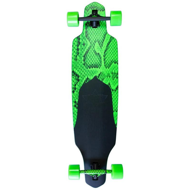 Dusters Channel Snakeskin Complete Longboard Neon Green 38.0