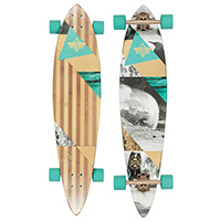 Dusters Curl Complete Longboard Teal/Gold 39.0 x 8.75