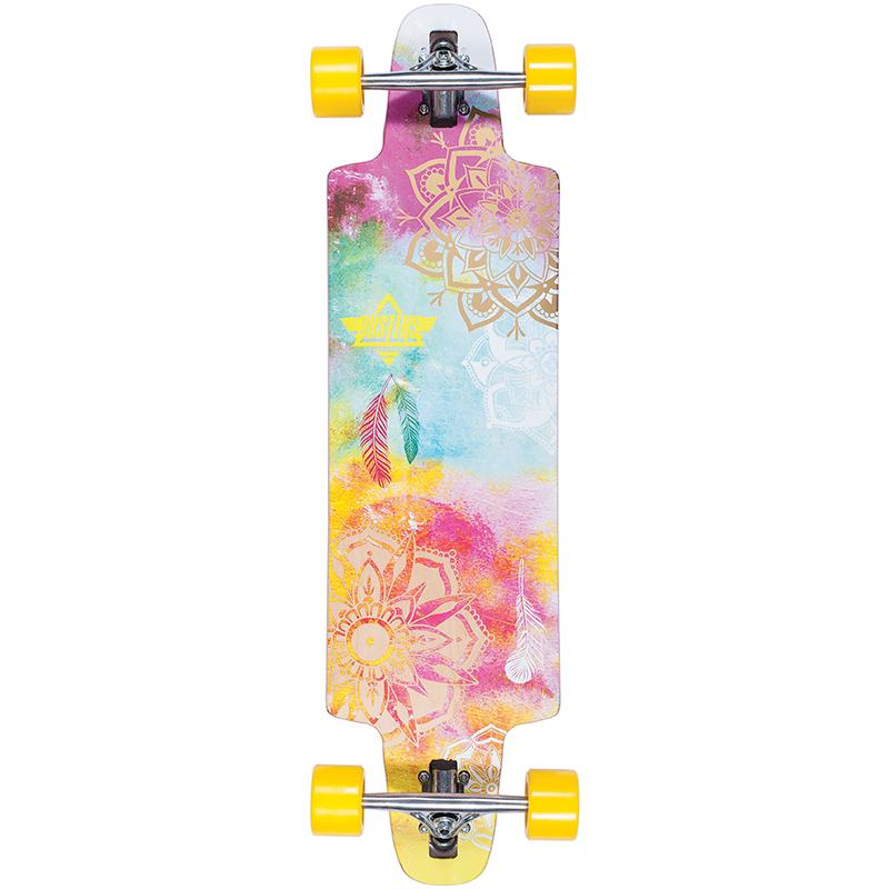 Dusters Mandala Complete Longboard Yellow