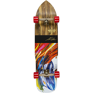 Dusters Olson Complete Longboard (with Kryptonics Red wheels) 36.0