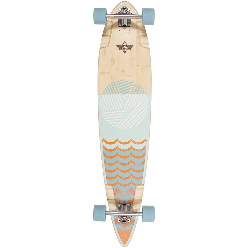 Dusters Ripple Complete Longboard Orange/Baby Blue 44.0