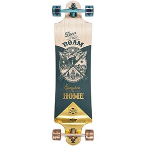 Dusters Roam Complete Longboard Gold/Green 38.0