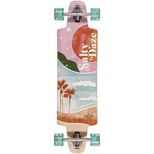 Dusters Salty Daze Complete Longboard Pink/Green 36.0