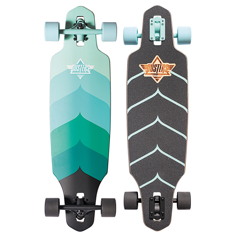 Dusters Wake Complete Longboard Turquoise 34.0