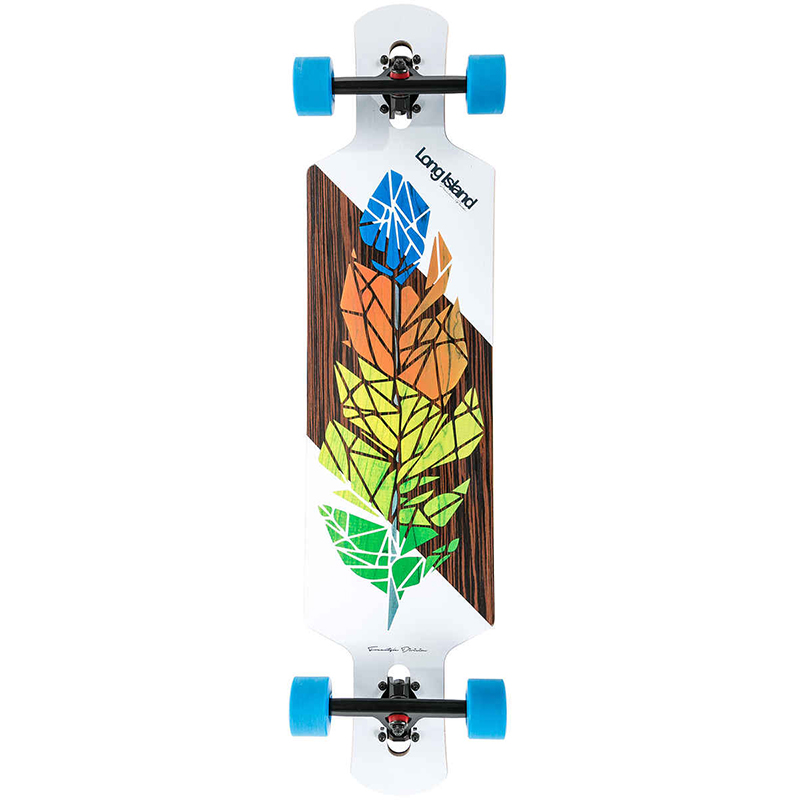 Long Island Feather Drop Through FS Complete Longboard 40.0