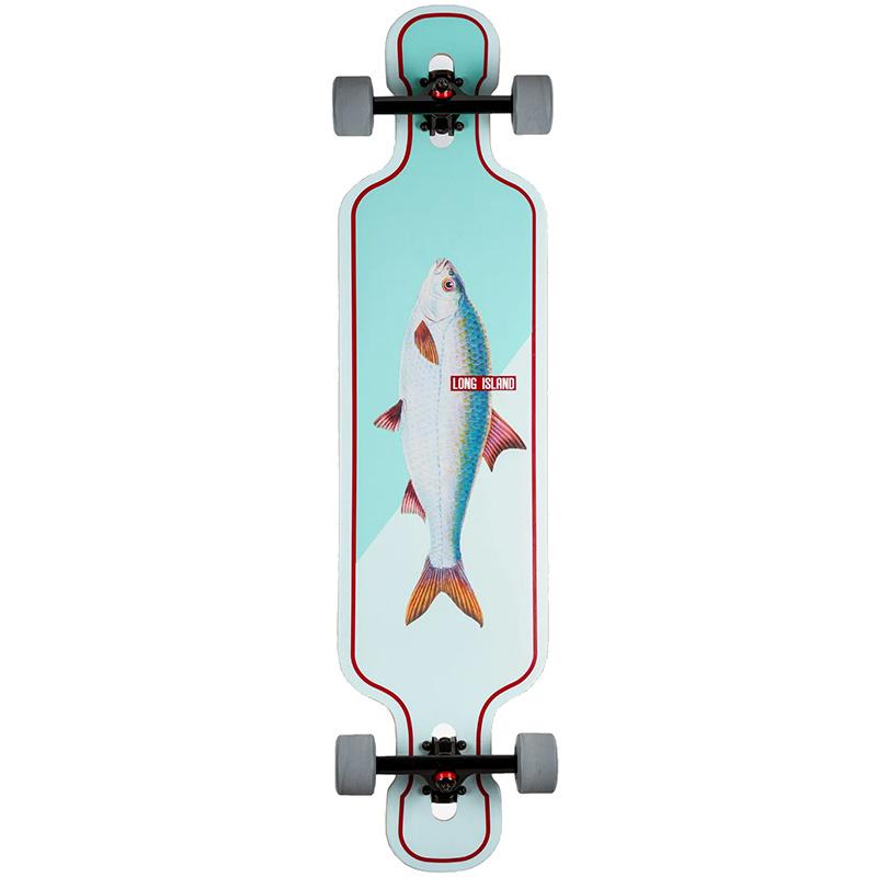 Long Island Fish Complete Drop Through Longboard 9.95 x 41.10