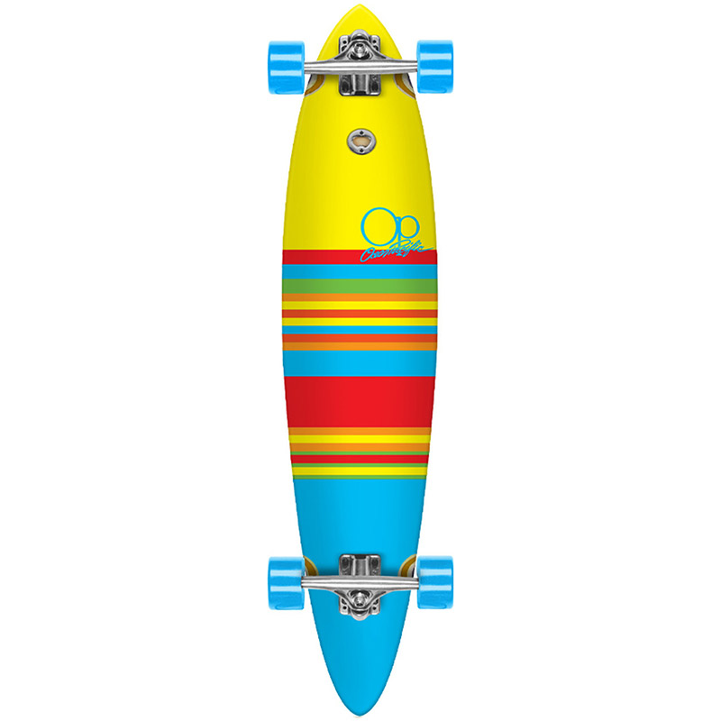 Ocean Pacific Swell Yellow/Blue Complete Pintail Longboard 8.75 x 40.0