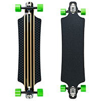 Saterno Clouded Pattern Drop Through Longboard 39.5 x 9.4