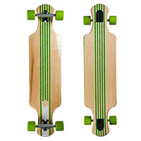 Saterno Forest Leaf Double Down Light Complete Longboard 37.0