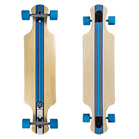 Saterno Ocean Coral Double Down Light Complete Longboard 37.0