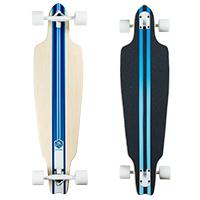 Saterno Ocean Multi Stripe Complete Longboard 38.0