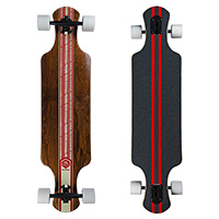 Saterno Red Leaf Double Down Dark Complete Longboard 37.0