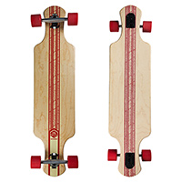 Saterno Red Leaf Double Down Light Complete Longboard 37.0