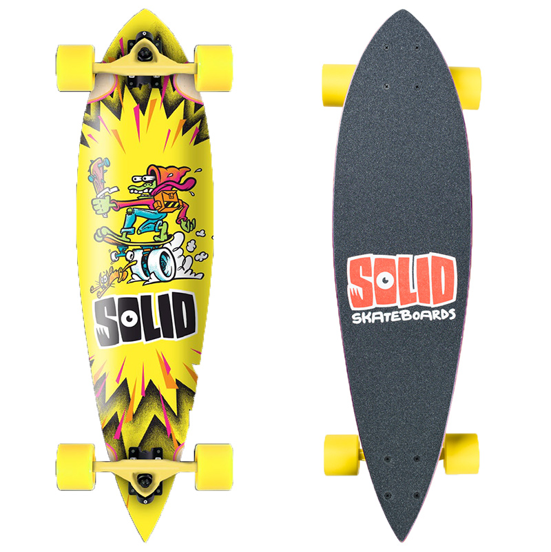 Solid Kid Pintail Complete Longboard Yellow 29.5 x 7.625
