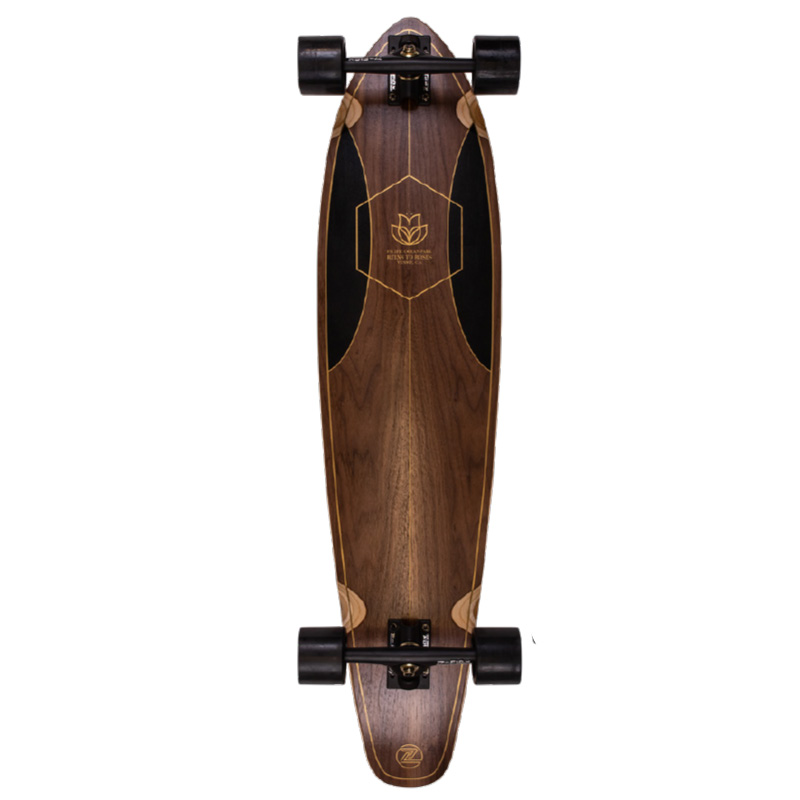 Z Flex Ruins To Roses Roundtail Complete Longboard 39.0
