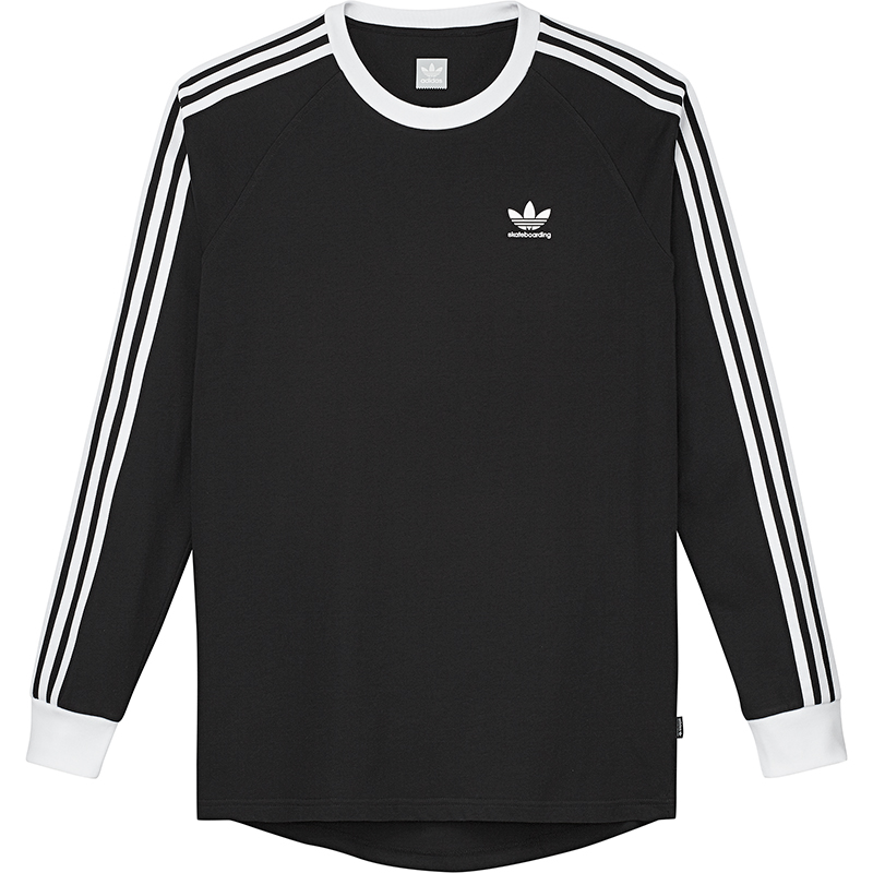 f04eeb76655030 adidas Ls Cli 2.0 T-shirt Black White L - Skatestore.com