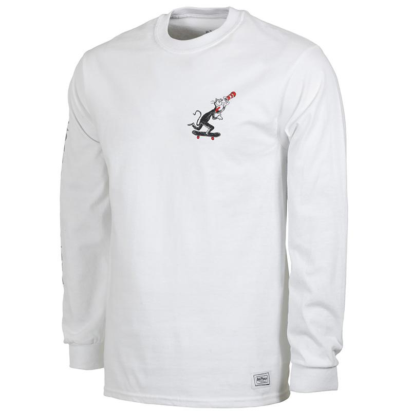 Almost X Dr Seuss Skater Cat Longsleeve T-Shirt White