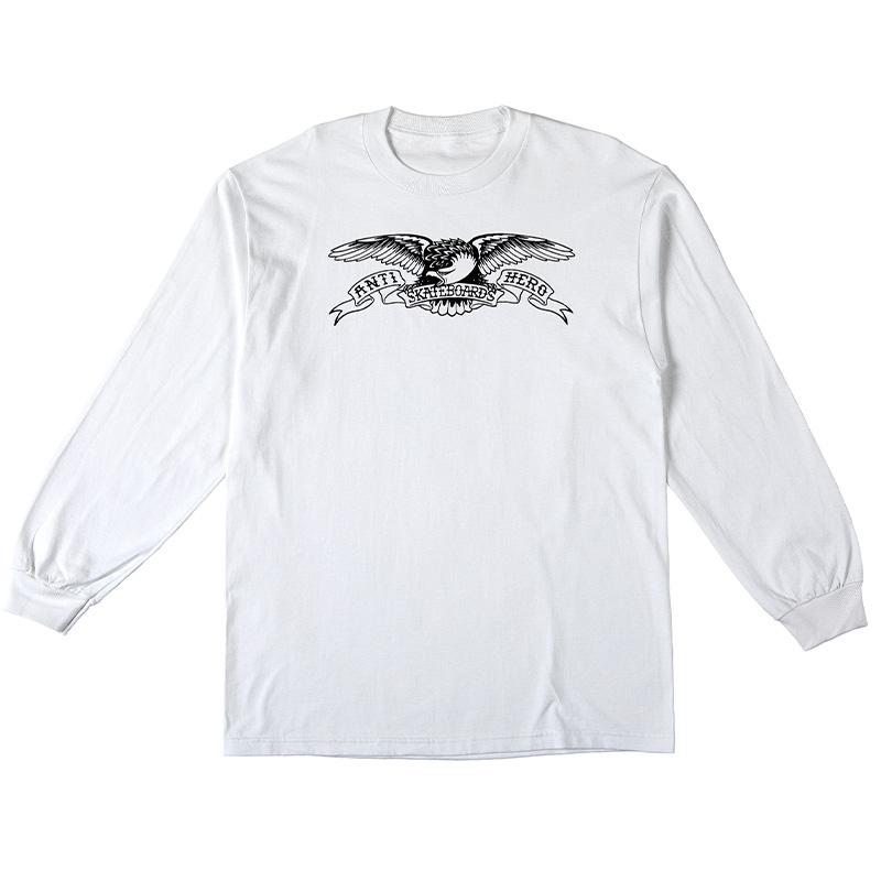 Anti Hero Basic Eagle Longsleeve T-Shirt White/Black Print