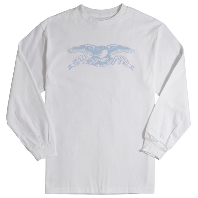 Anti Hero Basic Eagle Longsleeve T-Shirt White/Light Blue