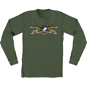 Anti Hero Eagle Longsleeve T-Shirt Military Green