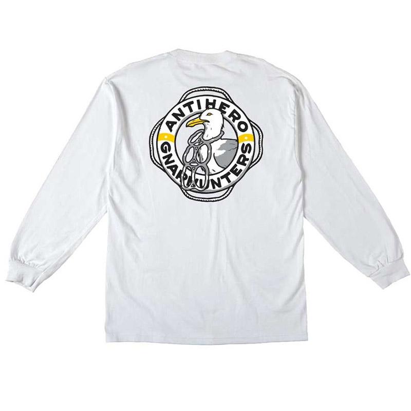 Anti Hero x Gnarhunters Longsleeve T-Shirt White
