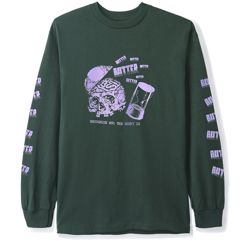 Butter Goods Enemy Longsleeve T-Shirt Forest